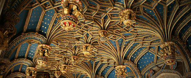 Ceiling of Hampton Court Palace - installed for Henry VIII