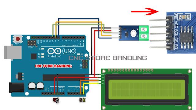 MAX6675 ARDUINO LCD I2C