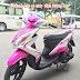 Mẫu sơn xe Yamaha Luvias màu trắng hồng cực đẹp
