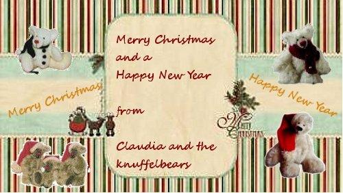 claudia 39 s knuffelbaeren showcase frohe weihnachten und. Black Bedroom Furniture Sets. Home Design Ideas