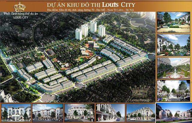 Phối cảnh tổng thể dự án khu đô thị Luois City Đại Mỗ