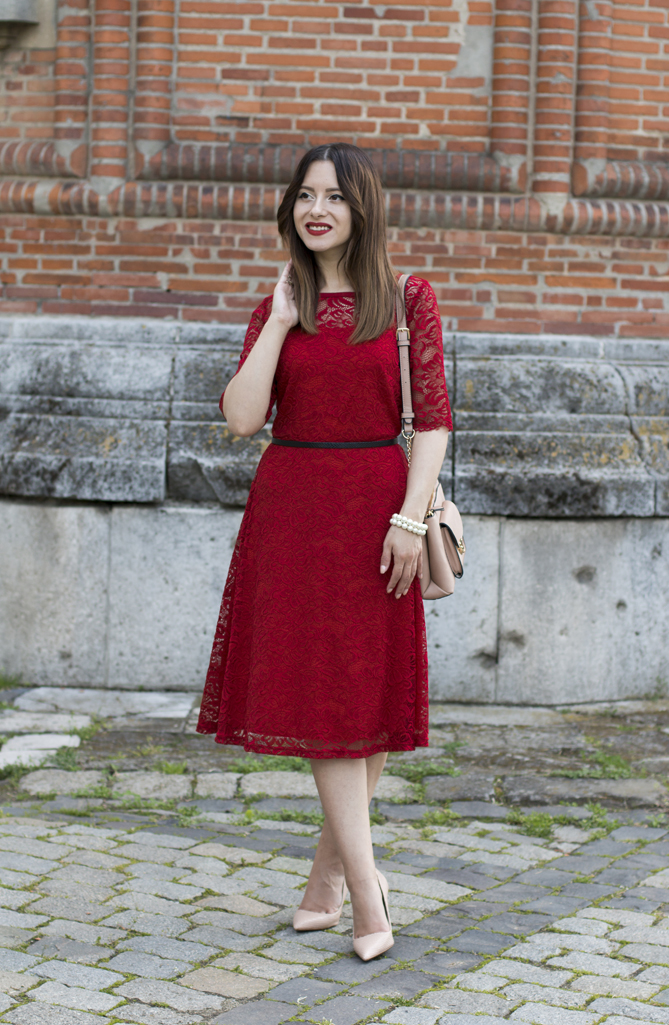how to wear a classic midi dress