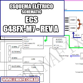 Esquema Elétrico Placa Mãe ECS 648FX  -M7 Motherboard Manual de Serviço  Service Manual schematic Diagram Placa Mãe ECS 648FX  -M7 Motherboard      Esquematico Placa Mãe ECS 648FX - M7 Motherboard
