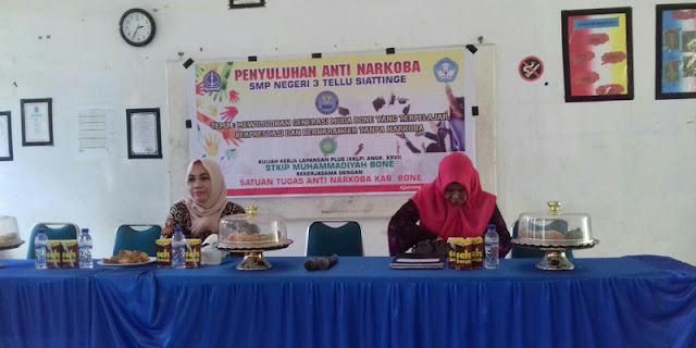 Mahasiswa KKLP STKIP MB Gandeng Satgas Narkoba Gelar Penyuluhan