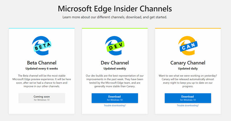 Microsoft Edge Insider Channels are now open for everyone