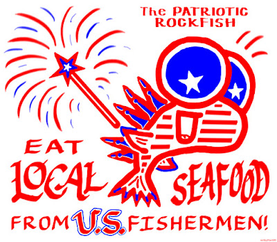 old glory rockfish, fourth of july, independence day, Tuna Harbor Dockside Market, local seafood