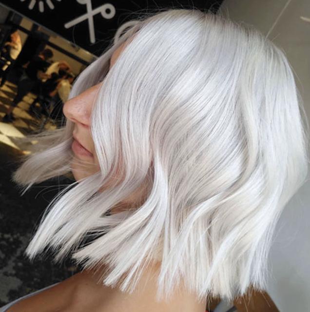 white hair color ideas 2019 female