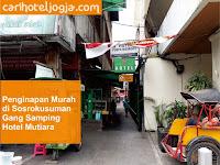 Hotel Penginapan Murah di Sosrokusuman Malioboro