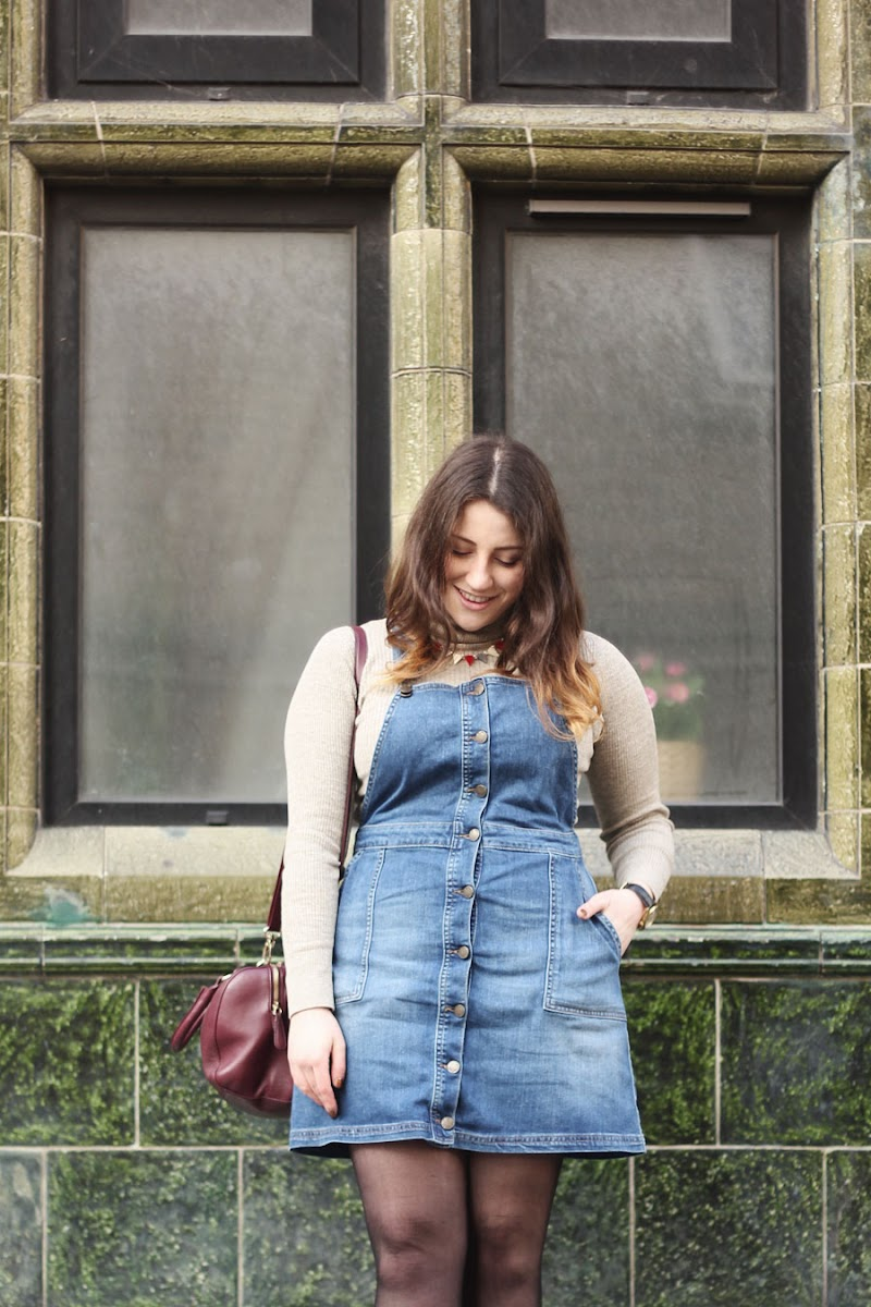Fat Face denim pinafore dress| www.itscohen.co.uk