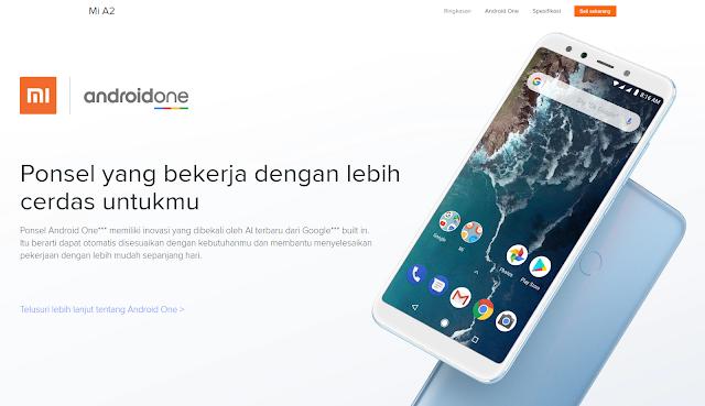 Xiaomi Mi A2 (www.mi.co.id)