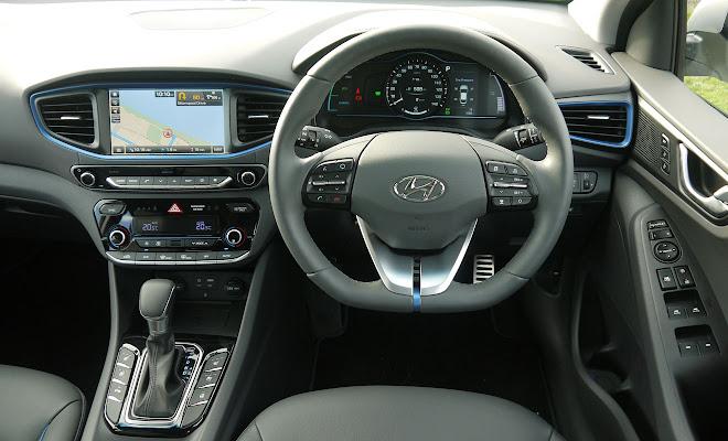 Hyundai Ioniq Hybrid driver's view