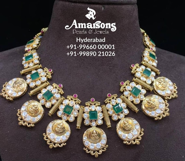 Polki Pearl Necklaces by Amarsons