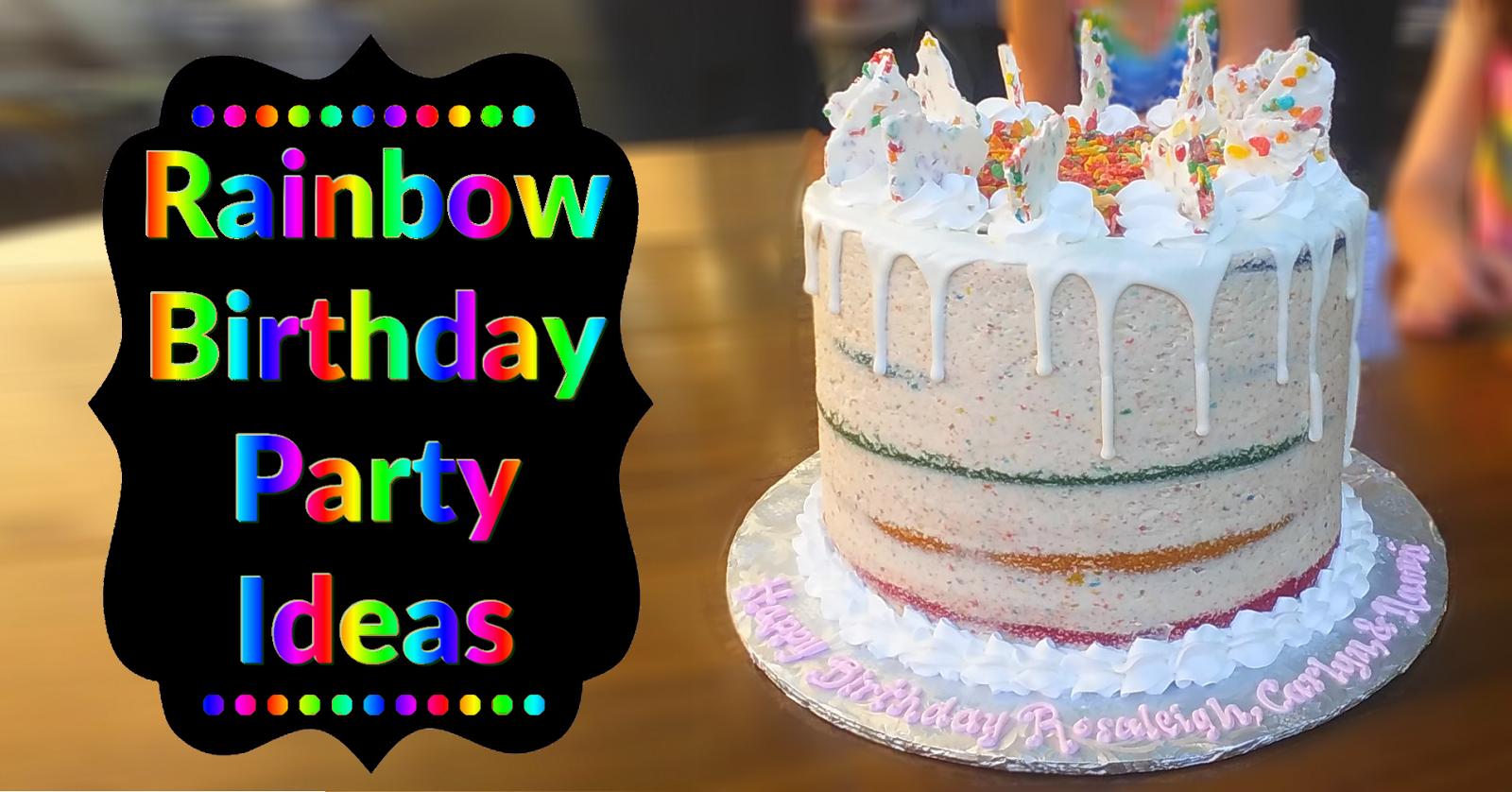 Rainbow Birthday Party Metro Detroit Mommy