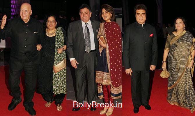 Prem, Uma Chopra, Rishi, Neetu Kapoor, Raj, Nadira Babbar, Celebs At Kush Sinha's reception