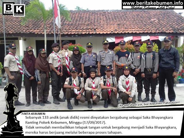 133 Pramuka Setingkat SMA, Resmi Menjadi Saka Bhayangkara Ranting Polsek Kebumen
