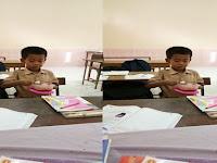 Foto Bocah SD Makan di Ruang Kelas Bikin Heboh, Lihat Kejadian Sebenarnya