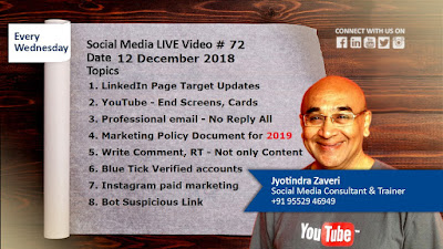 Social media tips by Jyoti Social Jyotindra Zaveri