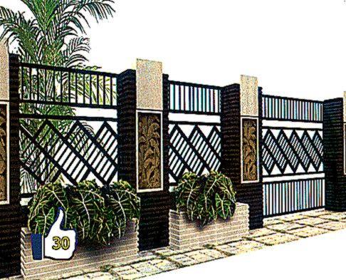 pagar rumah minimalis terbaru   design rumah minimalis
