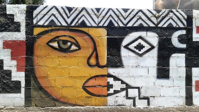 Pintura mural en las calles de Diaguitas