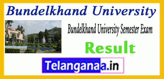 Bundelkhand University MA BHSC BA B.Com B.Sc Result
