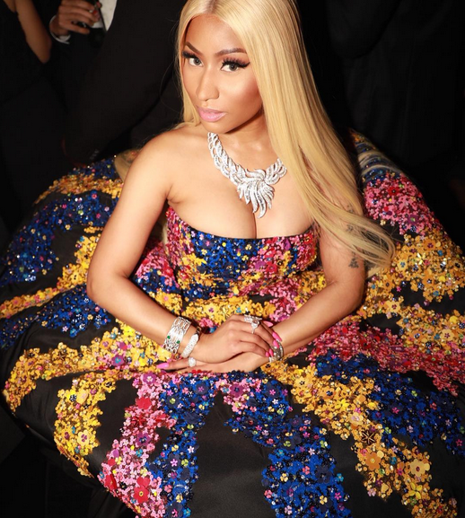 Nicki Minaj wears $50K Oscar De La Renta dress and $950K in Jewelry to fashion event (photos)
