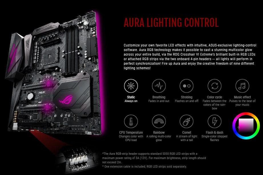 ASUS ROG Crosshair VI Extreme lighting RGB