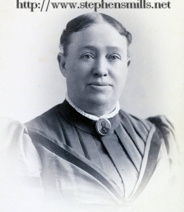 Photo of  Mehitable Felt Hathaway  *note the pin she is wearing has the photo of her husband John Hathaway.