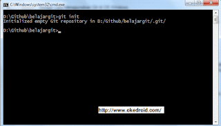 git init command prompt Windows