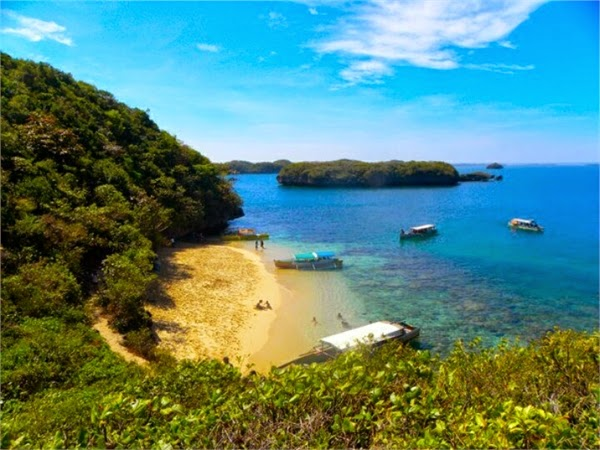 Marcos island at hundred islands in the Philippines