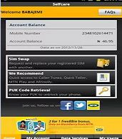 retrieve mtn sim using mobile phone