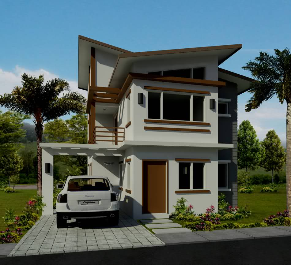 Collection 50 beautiful narrow house design for a 2 story for Case cu etaj
