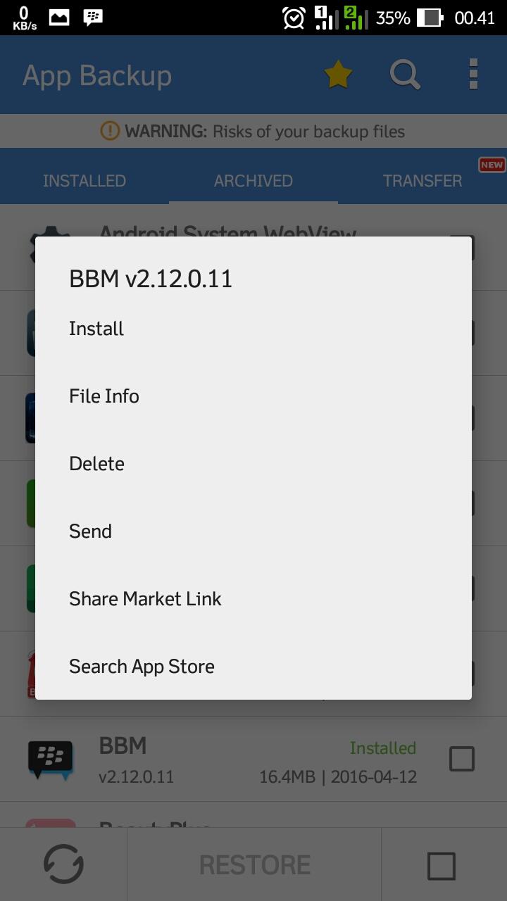 Mengirim Aplikasi & Game Android Melalui Bluetooth