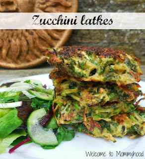 Healthy Zucchini Recipes: Zucchini latkes by Welcome to Mommyhood