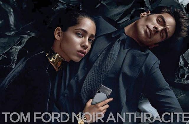 Jon Kortajarena i Yasmin Wijnaldum w reklamie Tom Ford Noir Anthracite