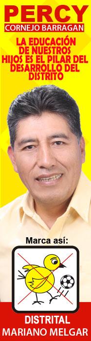Percy Cornejo Barragan Alcalde de Mariano Melgar