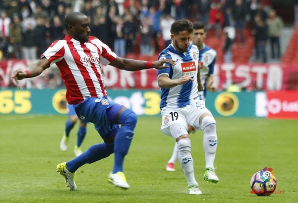 Empate entre el Sporting y Espanyol (1-1)