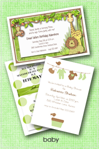 Shop Baby Shower Invitations and Birth Announcents