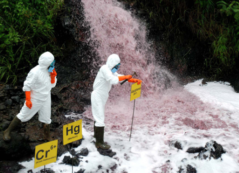 Pengelolaan limbah bahan kima yang tidak benar