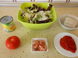 ingredientes ensalada de bacalao