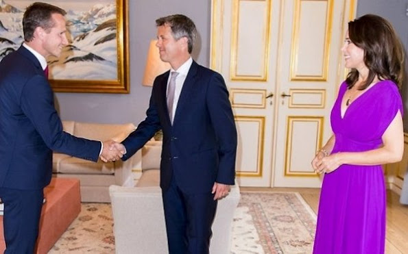 Crown Prince Frederik and Crown Princess Mary held a dinner for consultative committee of Global Green Growth Forum (3GF) at Amelienborg Frederik VIII Palace