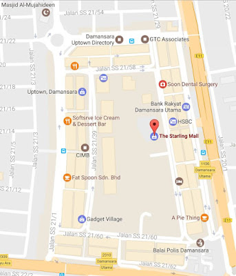 location map The Starling Mall Uptown Damansara