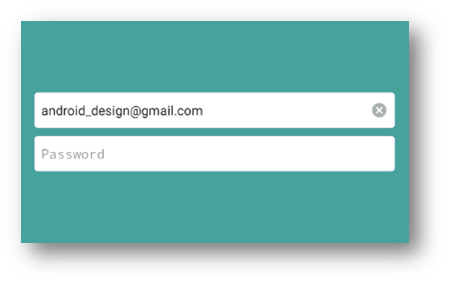 Customize EditText with Delete button - Android Designing