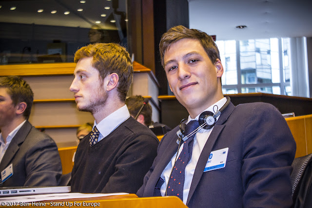 Jules Bejot - Stand Up For Europe - Parlement européen - Photo by Ben Heine