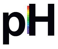H harfinin yanında bir pH çizelgesi olan pH yazısı