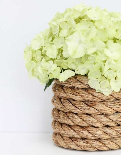 Vas bunga tema nautical
