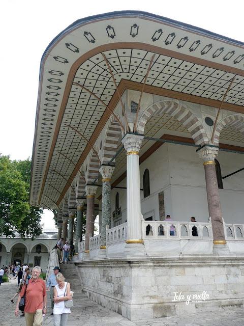 Topkapi pabellón del salón del trono