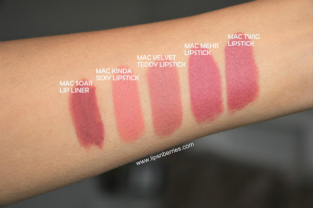 MAC Soar lip liner swatch