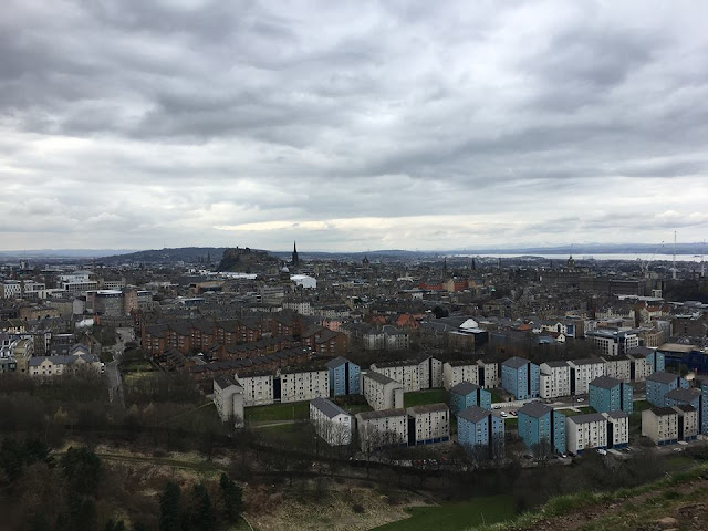 Views from the hike on Arthurs Seat, Edinburgh, UK