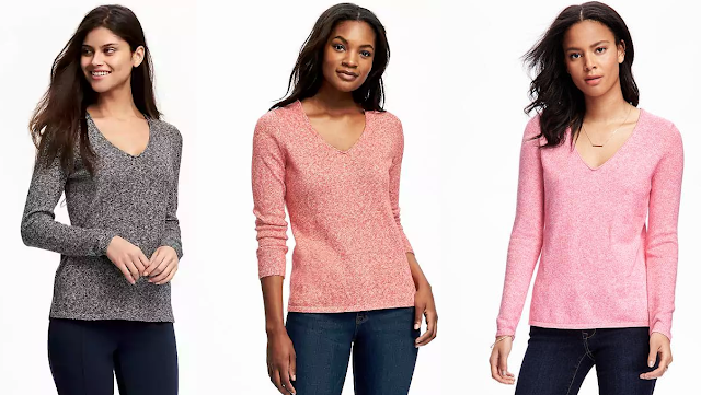 Old Navy Classic Marled V-Neck Sweater $7 (reg $30) - I got two!
