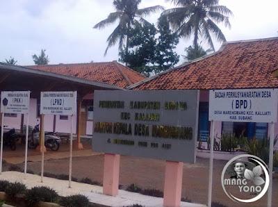 FOTO 1 : Desa Marengmang, Kecamatan Kalijati